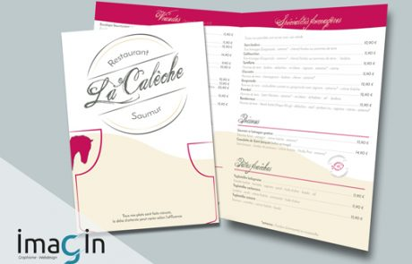 graphiste communication print menu