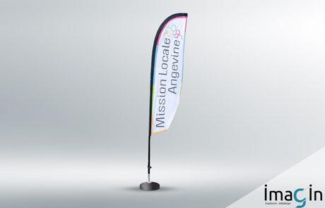 flamme drapeau publicité saumur