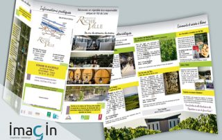 plaquette flyer brochures saumur